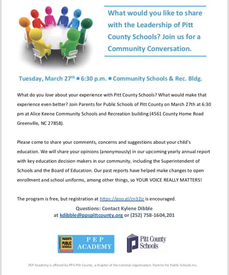 PEP Academy: Community Conversation – Parents for Public Schools of